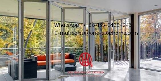 Matt White Color Grille French Design Aluminum Glass Bifold Door For Balcony,outdoor Dividers Soundproof Fold Door