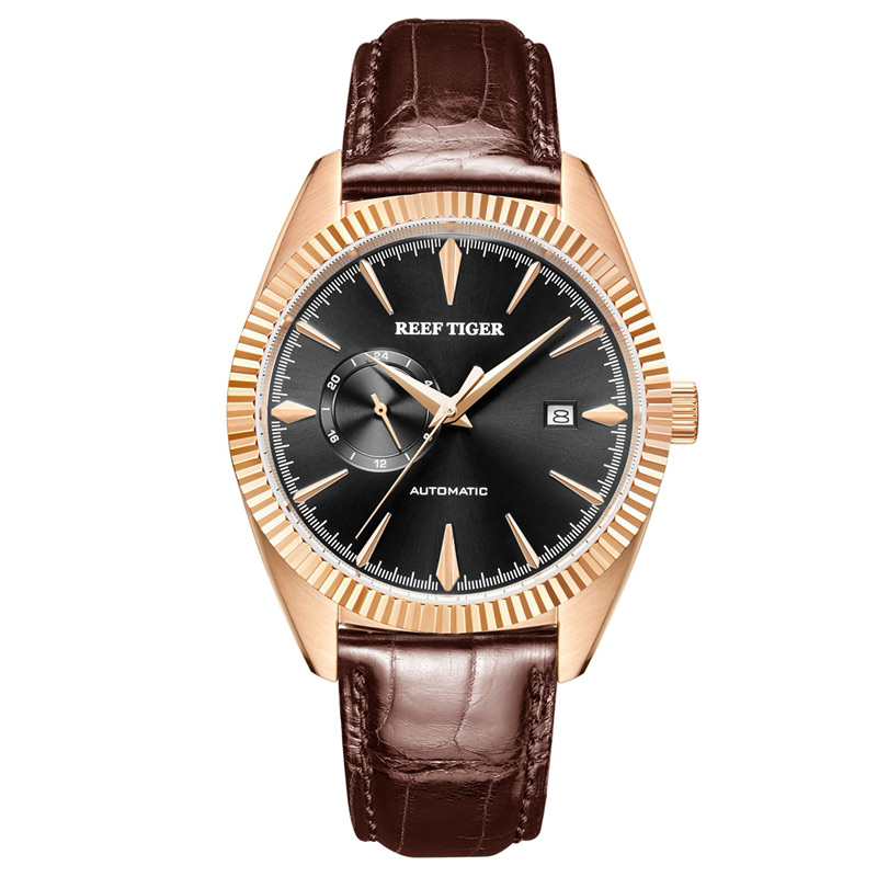 Reef Tiger/RT Top Brand Luxury Dress Watch Men Automatic Mechanical Watch Leather Strap Watches Relojes Masculino RGA1616Reef Tiger/RT Top Brand Luxury Dress Watch Men Automatic Mechanical Watch Leather Strap Watches Relojes Masculino RGA1616
