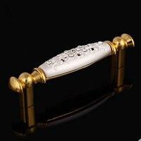 96mm Deluxe Gold Drawer Pull Knob Cabinet Handle Crystal Diamond White Dresser Cupboard Wardrobe Furniture Decoration