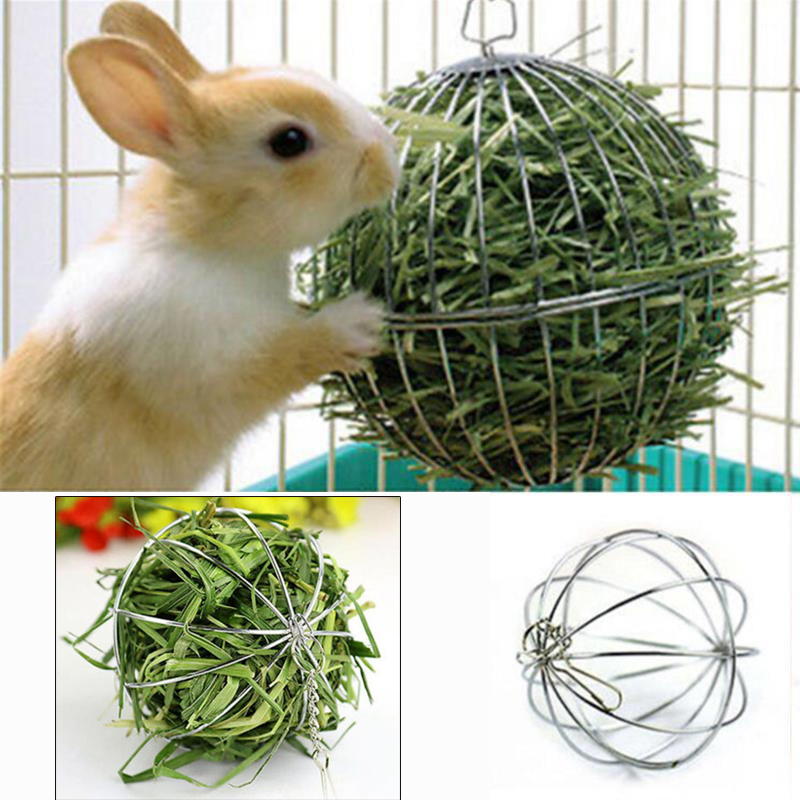 1 шт Нержавеющая сталь круглая Сфера устройство подачи шар висит сено мяч Форма трава мяч морская свинка хомяк крыса кролик любимая игрушка