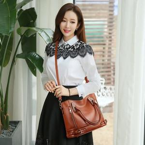 Image 2 - 2020 New Leather Womens Handbag Luxury Women Shoulder Bags Designer Female Crossbody Messenger Bag Lady