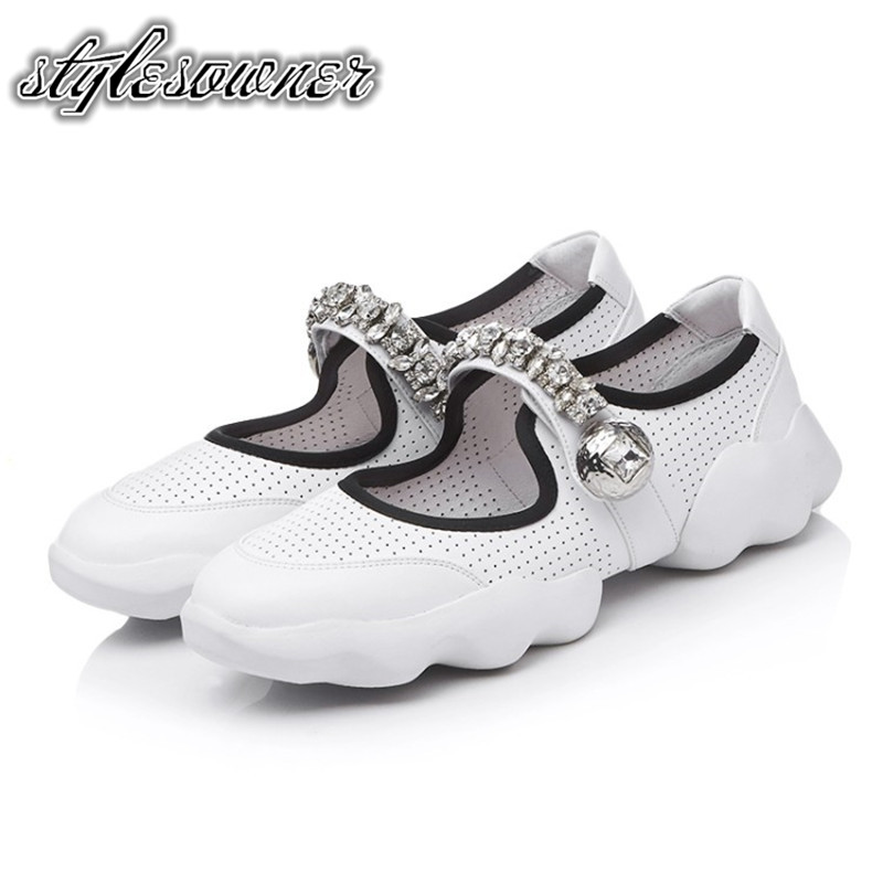 Stylesowner Korean Style New Arrival Flat Shoes Black White Solid Color Thick Bottom Comfort Breathable Casual Shoes Slip on 2017 free shipping new arrival traditional tavas women colors casual shoes breathable max size 36 42 black white superstar