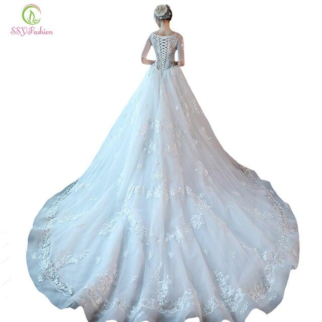 Freiheit! SSYFashion Luxus Hochzeit Kleid Braut Prinzessin Halb ...