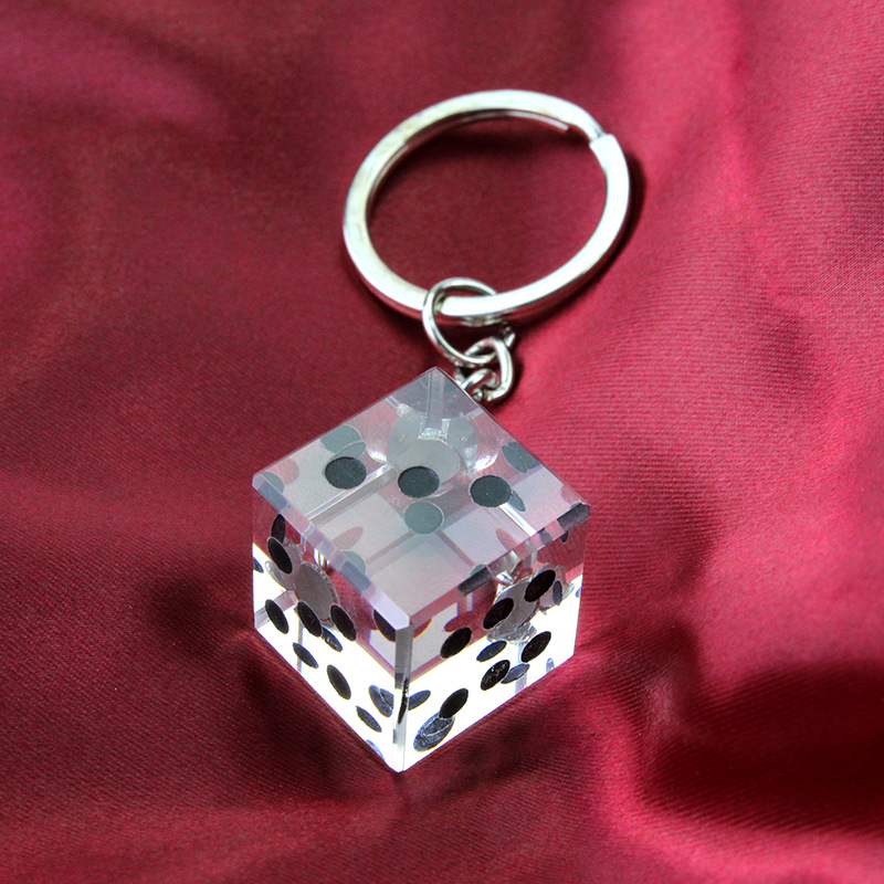 50pcs Las Vegas Themed Crystal Collection Dice Keychain Baby ...
