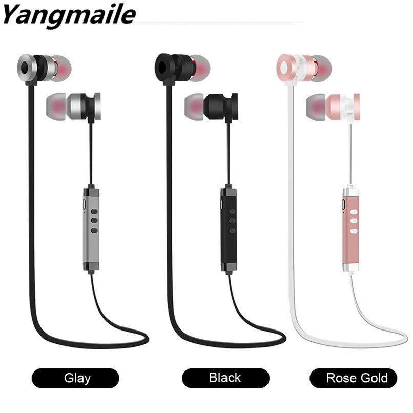 Yangmaile Wireless Earphone Bluetooth 4.2 Stereo Sports Earbuds Magnetic In-Ear Mic listen to Music H1TY0 #0