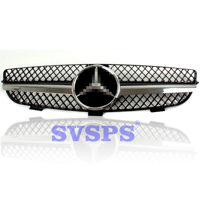 High Quality ABS Front Middle Grille For Mercedes Benz CLK-Class W209 2003-2009 Year стоимость