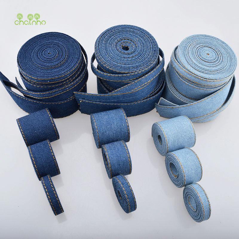 Chainho High quality 5 Yard/Piece,Denim Ribbon,For Diy Handmade Gift Craft Packing Hair Accessories Wedding Materials Package