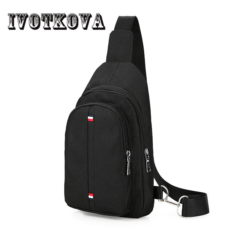 IVOTKOVA New Design Casual Chest Bag Waterproof Oxford Crossbody Sling Bag 2018 Fashion Motorcycling Lightweight Chest Pack casual canvas satchel men sling bag