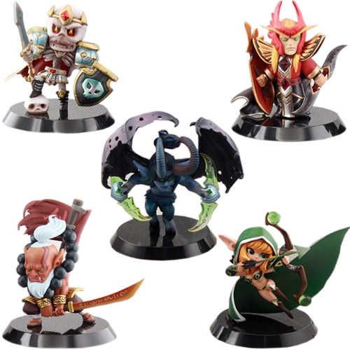 5pcs/lot Dota 2 Game Popular Soul Guard Silence Blademaster King Leoric Figure Toys PVC Action Figures Collection dota2 Toys
