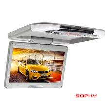 Pantalla LED para automóvil/autobús/vehículo/coche SOPHY 12,3 de 13 pulgadas/montada en el techo/abatible/Monitor de techo doble entrada de vídeo