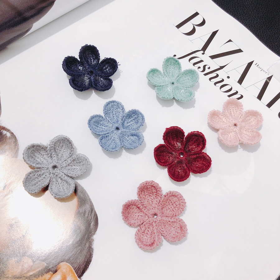 10 pieces lot Flower Fabric earrings Supplies for Jewelry Accessories women diy jewelry hand made bead caps pendants in Jewelry Findings Components from Jewelry Accessories