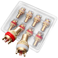 Mayitr 8pcs Red White RCA Female Socket Chassis High Quality RCA CMC Female Connector Phono Copper