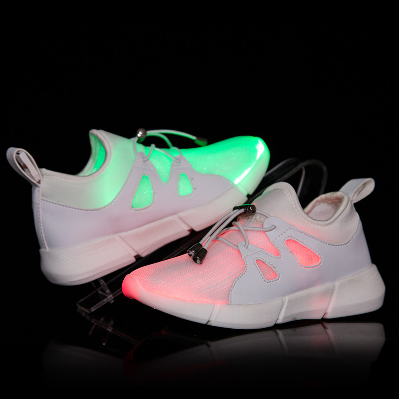 цена на DJSUNNYMIX USB Charger Led Light Shoes Unisex Casual Sports for Kids & Adult Fashion Boys & Girls Sneakers Lace Up Shoe