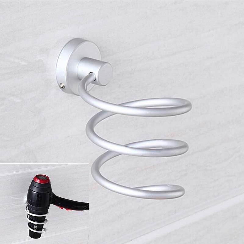 durable aluminum blow hair dryer holder wall shelf estante bathroom metal shelves set for soporte secador