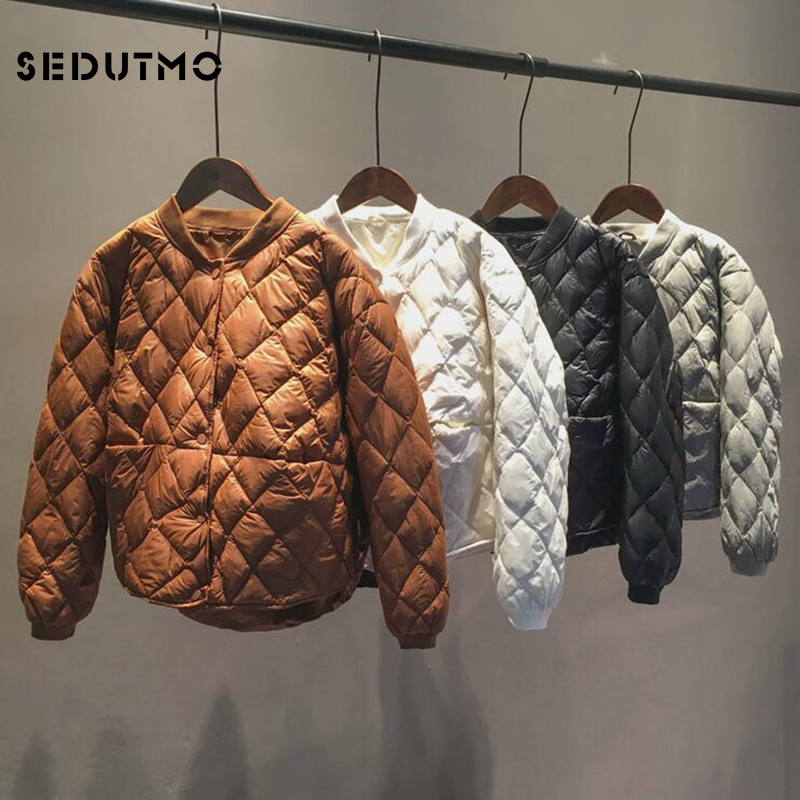SEDUTMO Winter Ultra Light Women   Down   Jackets Short Oversize Duck   Down     Coat   Slim Autumn Puffer Jacket Parkas ED620