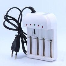 Linterna 4 ranura cargador Universal Cargador de voltaje Ajustable Para 16340 18650 26650 de litio li-ion Ni-MH Batería Recargable