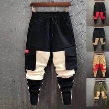 Хлопковые льняные широкие брюки, мужские штаны для бега в стиле хип-хоп, штаны-шаровары, мужские уличные спортивные штаны, брюки, мужские штаны, повседневные карманов
