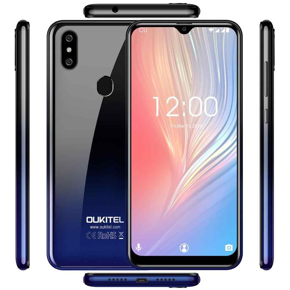 Oukitel C15 Pro + 6.088 ''3 GB 32GB MT6761 Giọt Nước Màn Hình 4G C15 Pro + vân Tay Mặt ID 2.4G/5G Wifi Điện Thoại Di Động