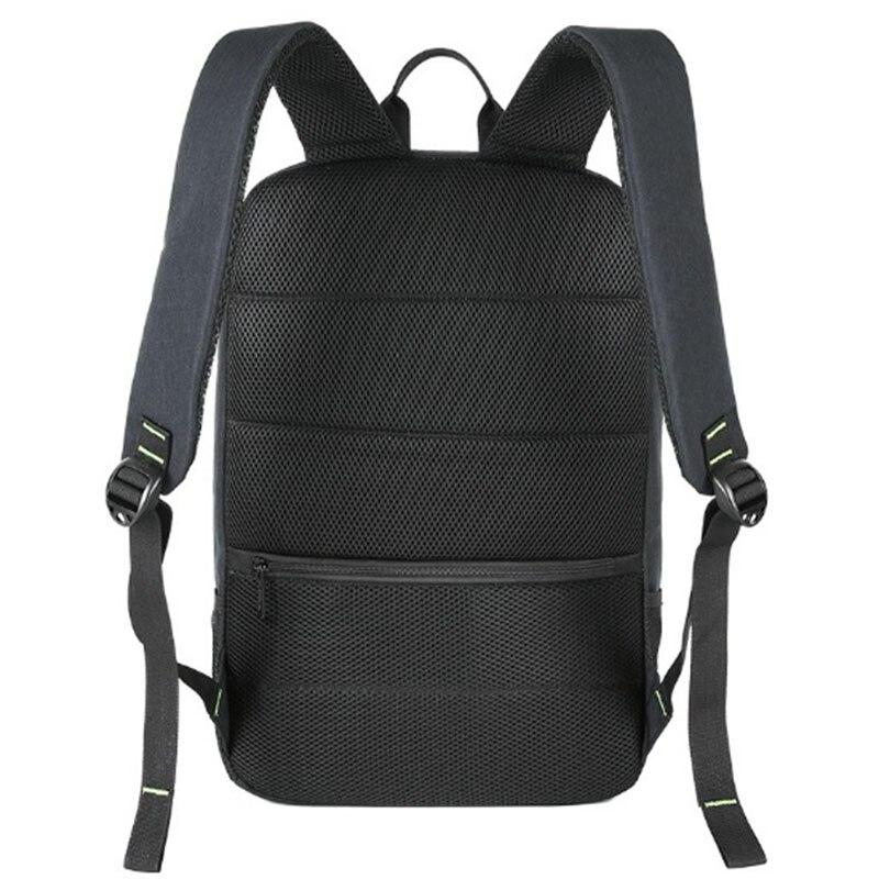 BAIBU énergie solaire hommes sac à dos USB charge 15.6 sacs à dos pour ordinateur portable hommes femmes Anti vol sac de voyage bande lumineuse sacs d'école - 4