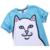 Mr.1991 nueva juventud divertido gato blanco 3D impresa camiseta para los niños y estilo verano de las muchachas adolescentes de la camiseta de big kids 11-20 tops A34
