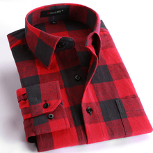 spring 2017 men's casual plaid shirts long sleeve slim fit comfort soft brushed flannel cotton shirt leisure styles man clothes