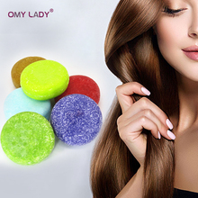 OMY LADY 100% Pure Natural Handmade Shampoo Soap Essential Oil for Dry Hair Cold Processed Anti-Dandruff Off Care