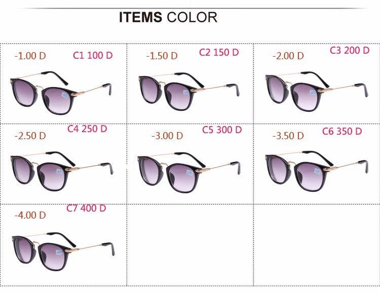Image 5 - OHMIDA Unisex Myopia Sunglasses Metal Legs Men Student Diopter Myopia Glasses Women  1.00  1.50  2.00  2.50  3.00  3.50  4.00-in Mens Eyewear Frames from Apparel Accessories on AliExpress