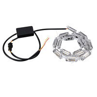 2Pcs Car Flexible Switchback LED Knight Rider Strip Light Universal 6000k Led Lamp For Auto Light