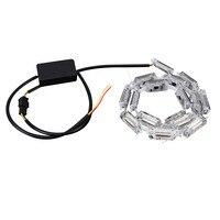 2Pcs Car Flexible Switchback LED Knight Rider Strip Light Universal 6000k Led Lamp For Auto Light