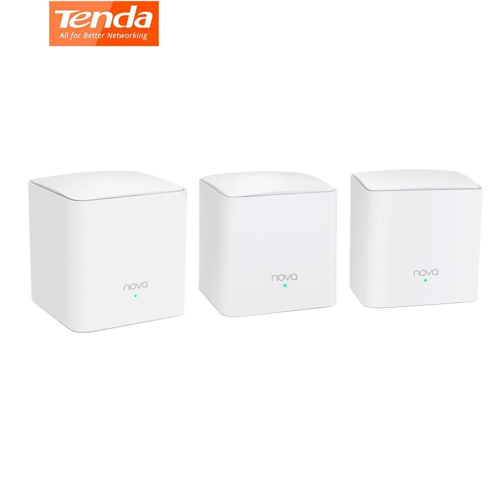 Tenda NOVA MW5S tout le système WiFi de la maison de maille remplace Gigabit AC WiFi routeur extendeurs double bande jusqu'à 3500 Sq. Ft. Couverture