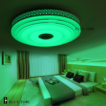 BULE TIME Music Lamp Modern LED Chandelier Lustres With Bluetooth Control Color Changing Ceiling Chandeliers Lighting Fixture