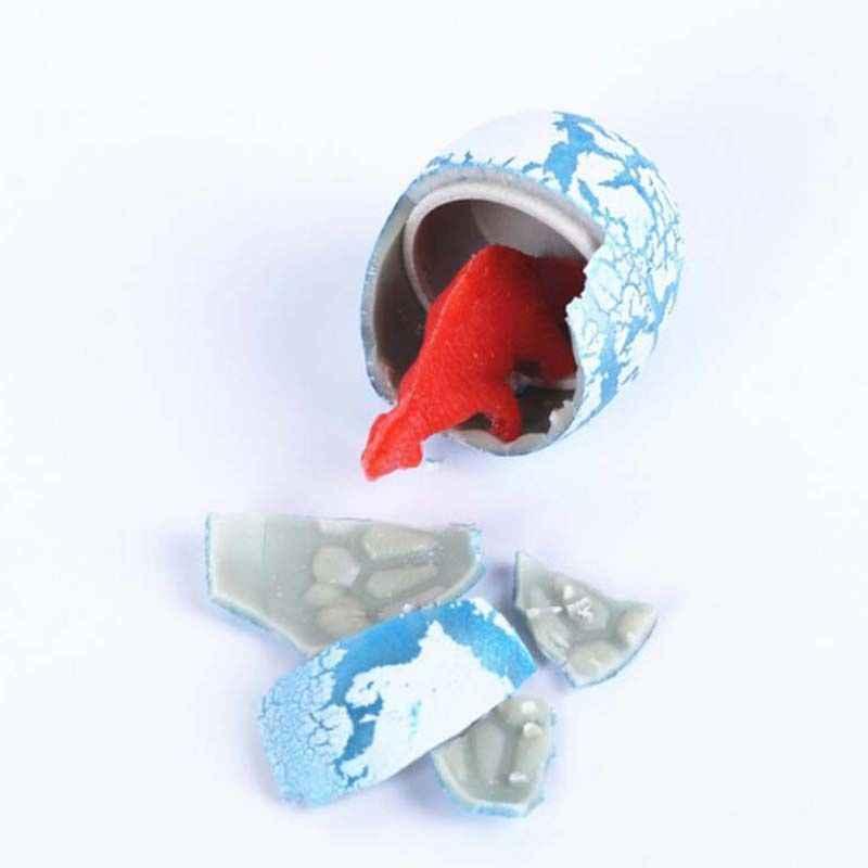 1pc Novel Water Hatching Inflation Dinosaur Egg Watercolor Cracks Grow Egg Educational Toys  2 X 3 cm