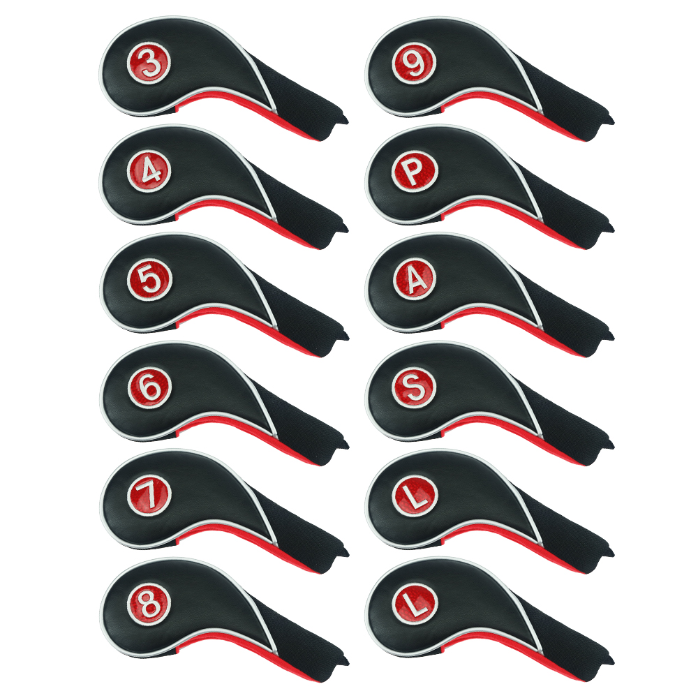 Classique Golf Club couverture fer couverture couvre-chef demi tuyau veste PU cuir/coton noir livraison gratuite