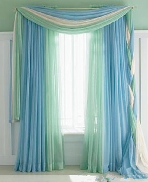 Custom Made Korean Fresh Shade Curtain Valance Bedroom Lace Sheer Tulle Curtain Living Room