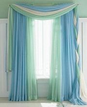 Custom Made Korean Fresh Shade Curtain Valance Bedroom Lace Sheer Tulle Curtain Living Room Black out