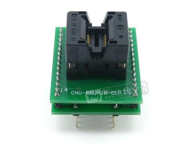 SSOP20 TO DIP20 (A) # TSSOP20 Enplas IC Programming Adapter Test & Burn-in Socket for SSOP20 Package 0.65mm Pitch
