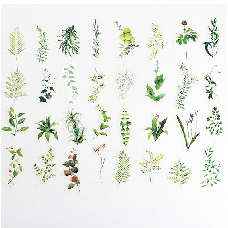 34 pcs/lot fresh plant washi paper sticker DIY for scrapbooking diary album planner sticker post stationery school supplies34 pcs/lot fresh plant washi paper sticker DIY for scrapbooking diary album planner sticker post stationery school supplies