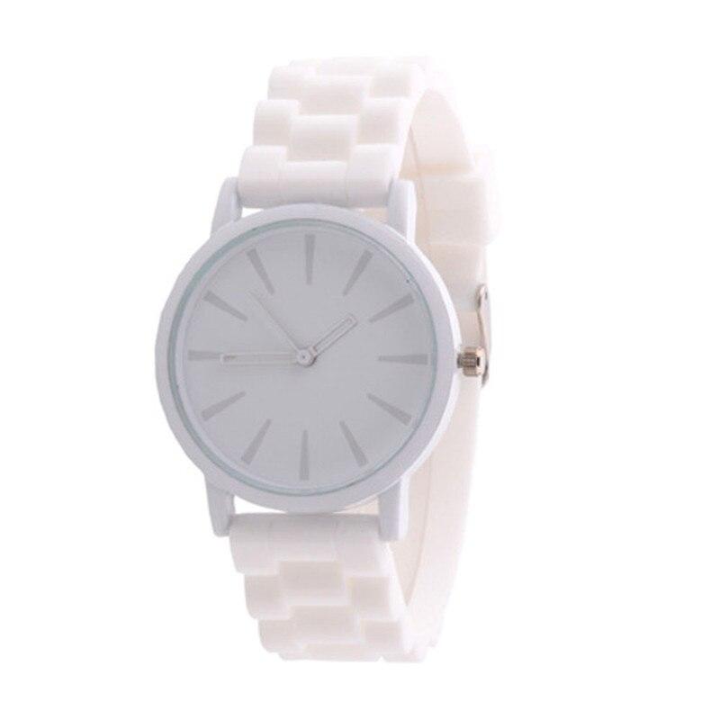 New GENEVA Sports Quartz Watch Women Silicone Rubber Jelly Gel Analog Watches Girls Running Wrist Watch Relogio Feminino