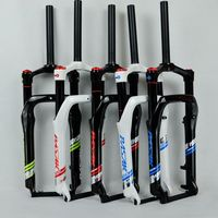 20inch Snow MTB Moutain Bike Fork Fat Bicycle Fork Air Gas Locking Suspension Forks Aluminium Alloy