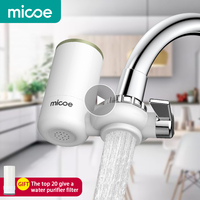 Micoe Water Purifier Filter Faucet Filtration System with Washable Ceramics Filter Core (faucet filter H D2002W