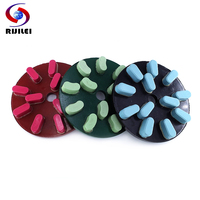 RIJILEI 8inch Diamond Resin Bond Grinding Plate 200mm Diamond Grinding Discs Polishing pad for Marble Granite ceramic tile YG34