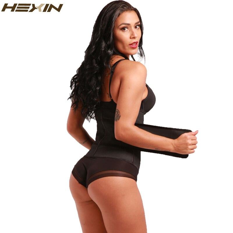 HEXIN Abdominal Belt High Compression Zipper Plus Size Latex Waist Cincher Corset Underbust Body Fajas Sweat Waist Trainer