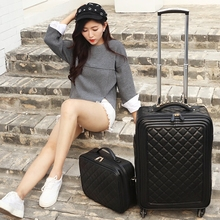 Trolley luggage picture box luggage travel bag suitcase male female universal wheels luggage,black luggage sets,14 20 24sets