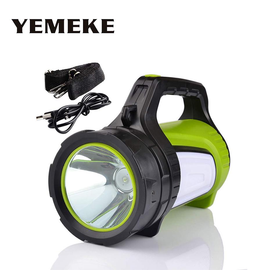 1000LM Rechargeable Led Flashlight High Power Outdoors Camping Hunting Handed Lamp Portable Spotlight Lantern Searchlight1000LM Rechargeable Led Flashlight High Power Outdoors Camping Hunting Handed Lamp Portable Spotlight Lantern Searchlight