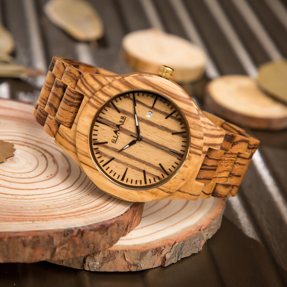 GIMSR Mens Wood Watch Quartz Analog Luxury Fashion Casual Vintage Wristwatch Natural Wooden Male Watches Clock Relogio Masculino 2017 hot wooden watch men fashion creative watches casual wood quartz full natural wood wristwatch women clock masculino gift