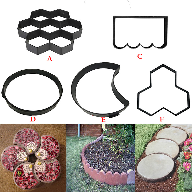 Path Maker Mold 2019top Paving Mold Driveway Patio Stepping Stone Pavement Paver Path Maker DIY g90529-in Paving Molds from Home & Garden