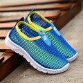 2016 verão novo padrão crianças shoes moda sneakers malha respirável meninos e meninas casual running shoes