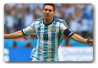 Free Ship 2015 Home Decoration Custom Doormats Super Football Player Messi Bedroom Coussin Carpets Bathroom Rugs