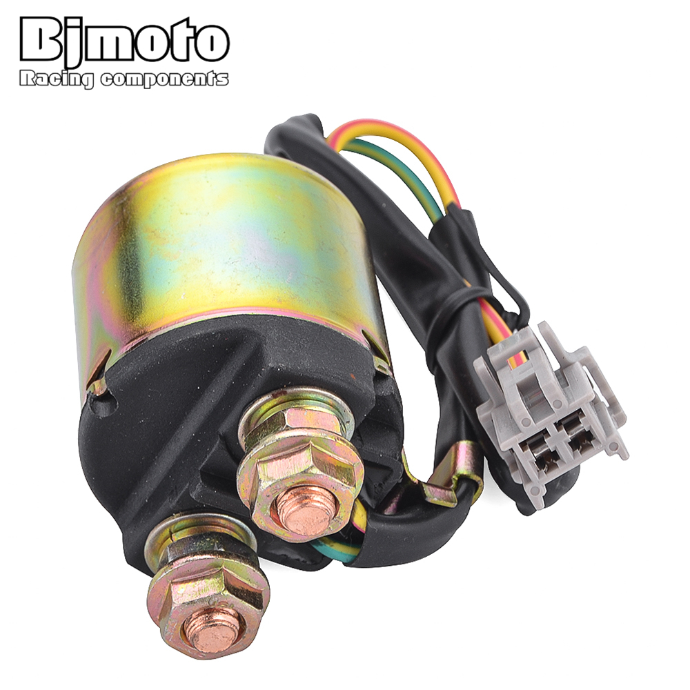 Bjmoto Motorcycle Starter Relay Solenoid For Honda Big Red