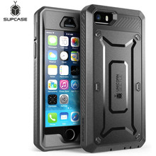 SUPCASE Için iPhone SE 5 5 s Case UB Pro Tam Vücut Sağlam Kılıf Klip Koruyucu Kapak ile Dahili ekran Koruyucu Kılıf
